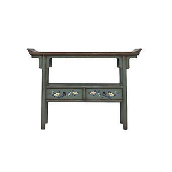 Fin asiatiskliving kinesisk konsoll bord håndmalt blå