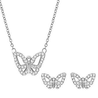 Swarovski jewels necklace & earrings set butterfly 5118289