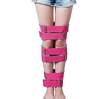 脚修正ベルト脚ストレートナーストラップ姿勢矯正バンド プロフェッショナル(ピンク)