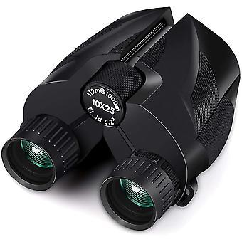 Binoculars 10x25 binoculars, small compact waterproof binoculars with carrying case, large