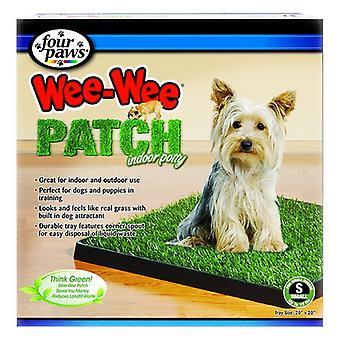 """Четыре лапы Wee Wee Patch Indoor Potty - маленький (20"""" длинный x 20"""" широкий) для собак до 15 фунтов"""