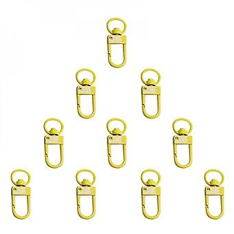 10pcs Bag Accessories Handbags Clasps Handle Metal Clasp Swivel Clips Dog Chain Collar Snap Hooks Key Rings Keychains