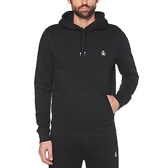 Original pingvin klistermärke pete pullover hoodie - äkta svart