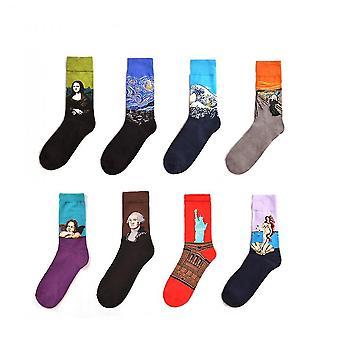 Dark grey 8-12 pack fun patterned funky crew socks mz1095