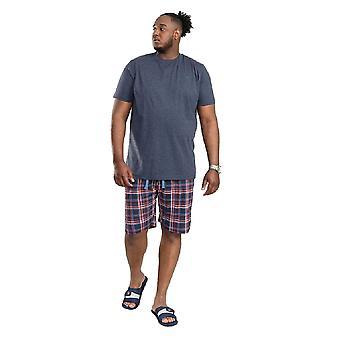 Duke Mens Stansted D555 Check Short Loungewear Set