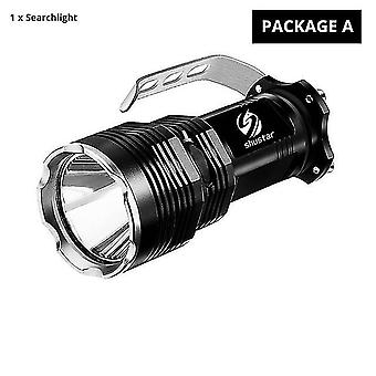 Camping lights lanterns package a led searchlight flashlight 5 lighting modes waterproof aluminum alloy|portable spotlights
