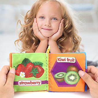 Draagbare vroege educatieve doek boek kleurrijke zachte speelgoed pecfect voor baby's