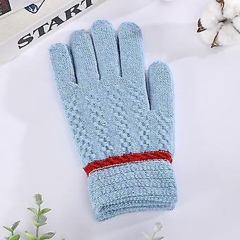 Solid Color Couple Winter Women Cute Men Riding Warm And Cold Proof Thick Fleece Gloves