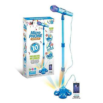 Children's Karaoke Machine Adjustable Podium Toy Set With 2 Microphones