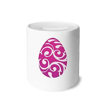 Osterfest Purple Egg Print Keramik Sparschwein