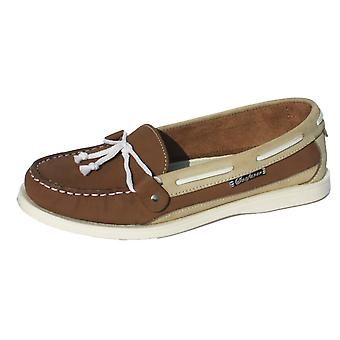 Ladies Seafarer Yachtsman Nubuck Leather Boat Deck Shoes