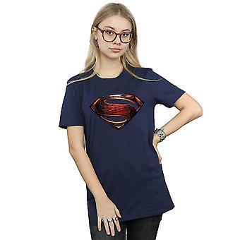 DC Comics Women's Justice League film Superman embleem Boyfriend Fit T-Shirt