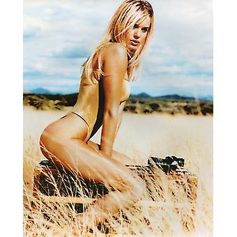 Rebecca Romijn Photo Shoot Photo - Gold Bathing Suit (8 x 10)