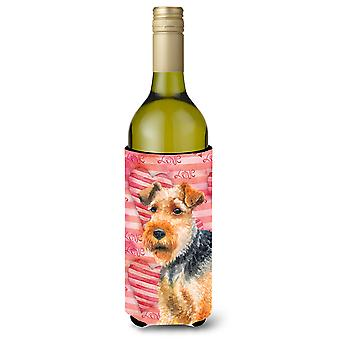Welsh Terrier amour bouteille de vin Beverge isolateur Hugger