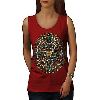 Aztekische traditioneller weiblicher RedTank Top | Wellcoda