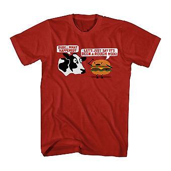 Humor rojo divertida camiseta áspero semana hombres
