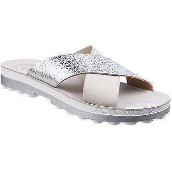 Fantasy Womens/Ladies Charis Slip-On Cross Over Strap Summer Sandals
