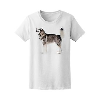 Alaskan Malamute Hund T-Shirt. Damen-Bild von Shutterstock