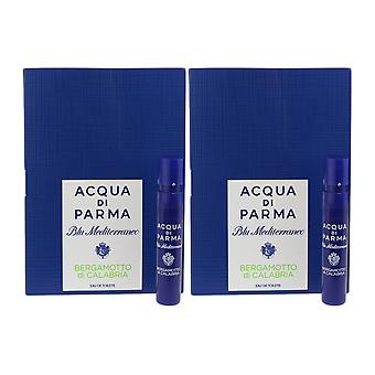 Acqua Di Parma 'Blu Mediterraneo Bergamotto Di Calabria' EDT 1.2ml ( Pack OF 2)