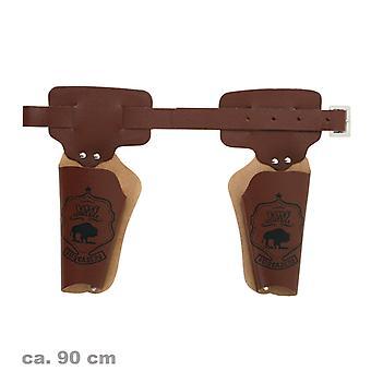 Doppelholster Revolvergürtel 90cm Cowboy Sheriff Wilder Westen Accessoire