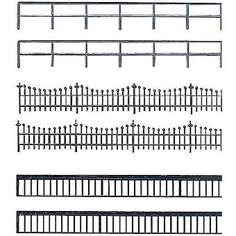 Auhagen 42 558 H0, TT Metal fence Plastic
