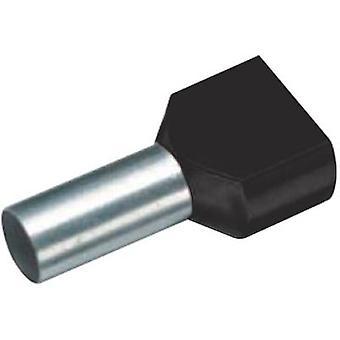 Vogt Verbindungstechnik 460714D doble férula 2 x 6 mm2 x 14 mm Parcialmente aislado Negro 100 uds(s)