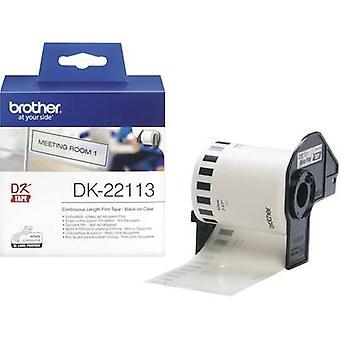 Brother DK-22113 Tarrarulla 62 mm x 15,24 m Film Läpinäkyvä 1 kpl Pysyvä DK22113 Yleistarrat
