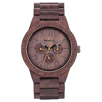 WeWood Mens Kappa Chocolate Wooden Brown Strap 70315500 Watch