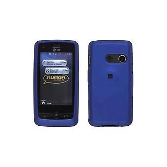 Zweiteiliger Soft Touch Snap On Case für LG Rumor Touch LN510 UN510. Dunkelblau
