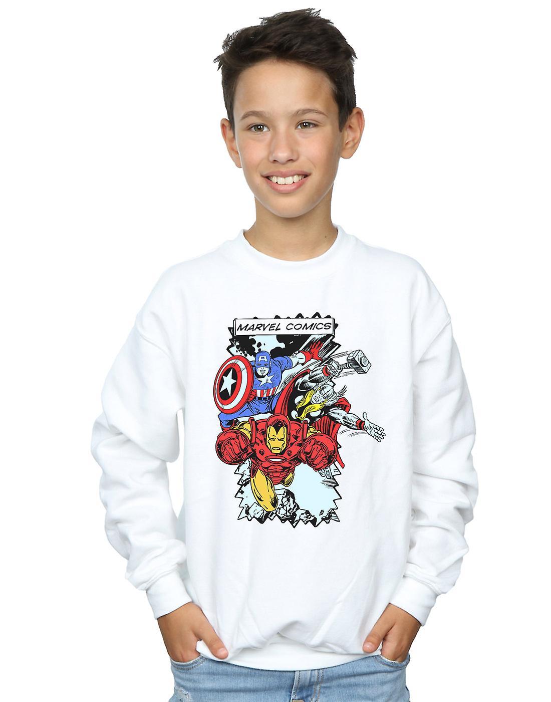 Marvel Boys Comic Characters Sweatshirt