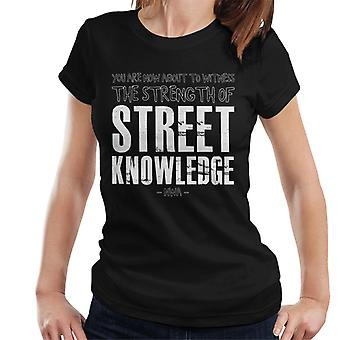 The Strength Of Street Knowledge NWA Straight Outta Compton Lyrics Women's T-Shirt