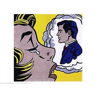 Thinking of Him Poster Print by Roy Lichtenstein (32 x 24)