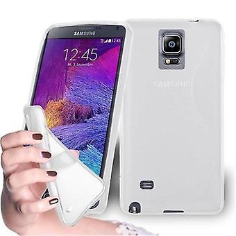 Custodia Cadorabo per Samsung Galaxy NOTE 4 Case Cover - Flessibile custodia in silicone TPU Ultra Slim Soft Back Cover Bumper