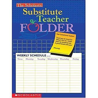 De scholastische substituut leraar map
