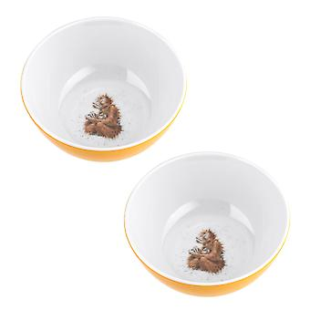 Wrendale design orangutang sæt 2 Melamine skåle