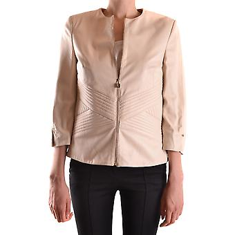 Jaqueta bege de couro outerwear de couro bege