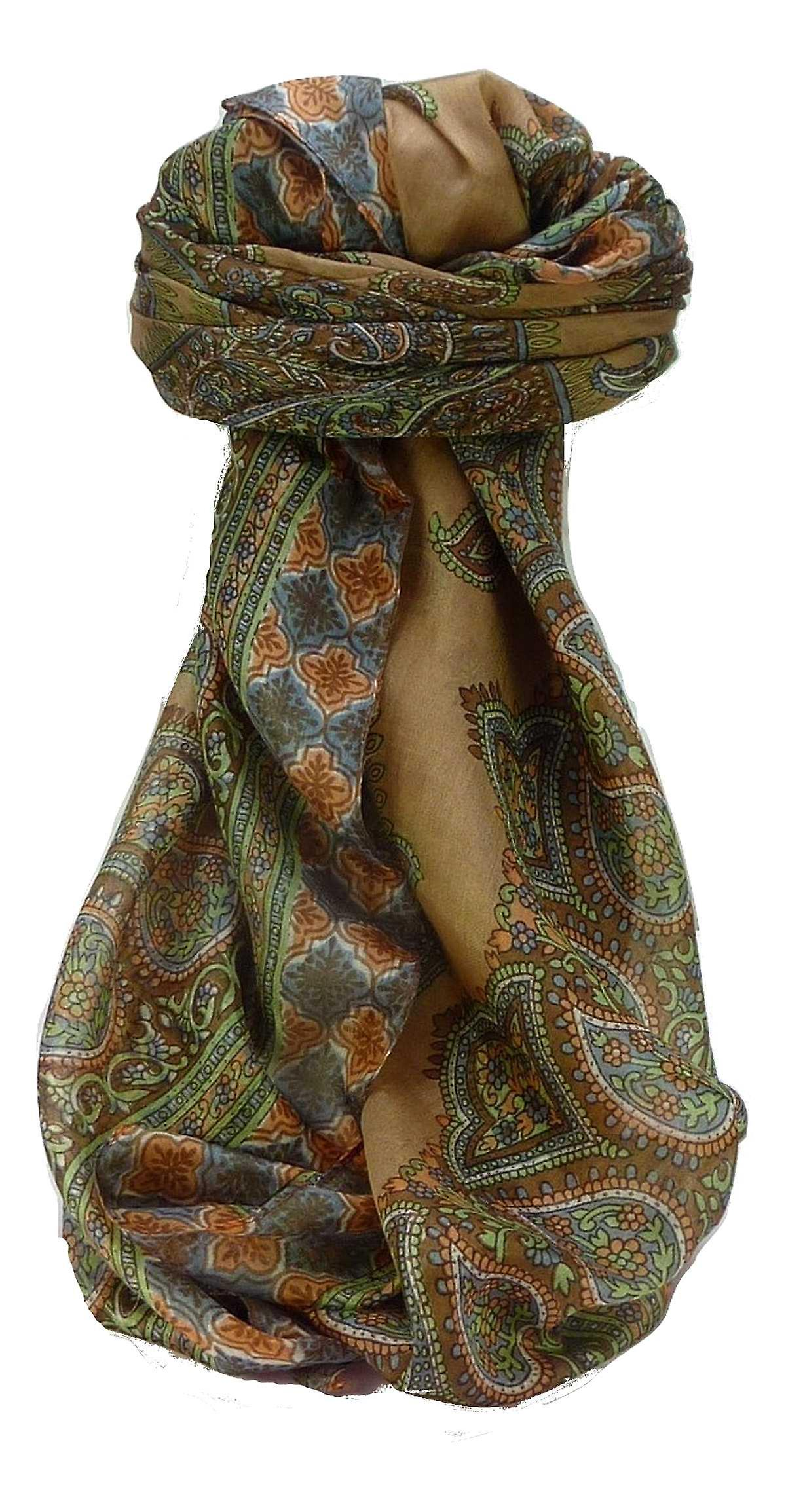 Mulberry Silk Traditional Square Scarf Obi Chestnut by Pashmina & Silk