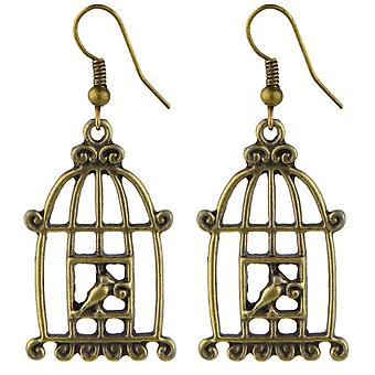 Bird Cage Drop Earrings