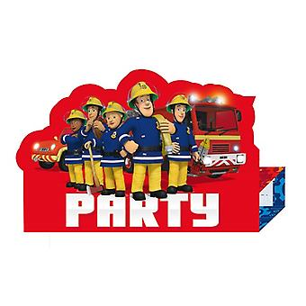 Firefighter Sam 8 inviti con busta Fireman Sam samparty compleanno per bambini