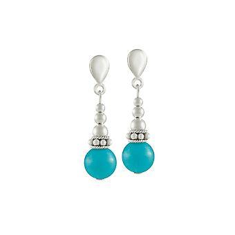 Éternelle Collection Bella Turquoise fermoir Drop boucles d'oreilles