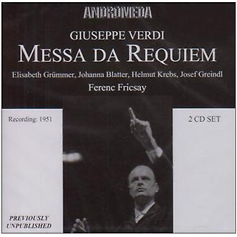 Verdi / Fricsay / Grummer / Blatter - Messa Da Requiem (Berlino 27.01 importazione USA [CD]