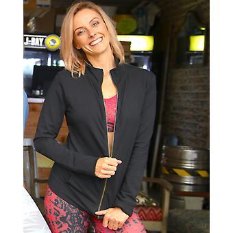 Black Lightweight Zip Yoga Jacket
