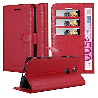 Cadorabo Hülle für Sony Xperia XA2 PLUS Case Cover - Handyhülle aus strukturiertem Kunstleder mit Standfunktion und Kartenfach – Case Cover Schutzhülle Etui Tasche Book Klapp Style