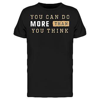 Voit tehdä enemmän slogan tee miesten-kuva Shutterstockissa