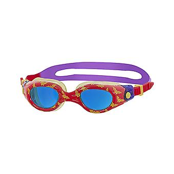 Zoggs Wonder Woman Kids Printed Swimming Goggles Red/Yellow/Purple for 0-6 years