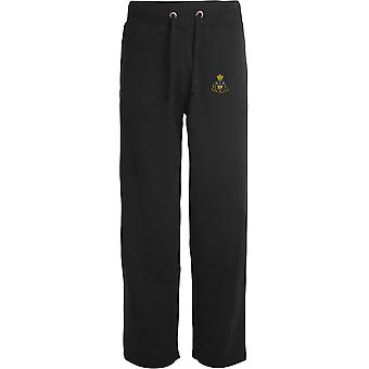 Royal Monmouthshire Royal Engineer - Licensed British Army Embroidered Open Hem Sweatpants / Jogging Bottoms
