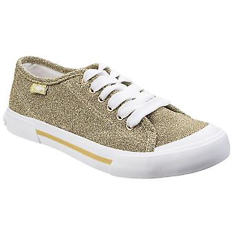 Rocket Dog Womens Jumpin Disco Lace Up Trainer Gold
