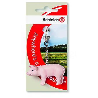 Schleich Pig Keyring