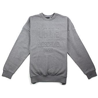Liefde Moschino grijs 3D print Sweatshirt
