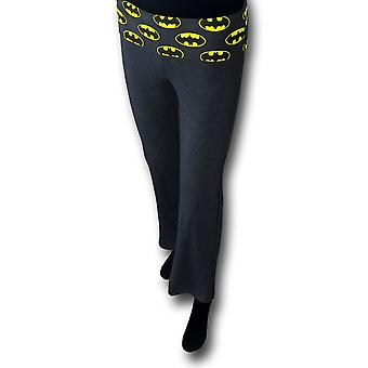 Batman Symbols Women's Heather Charcoal Yoga Pantalones